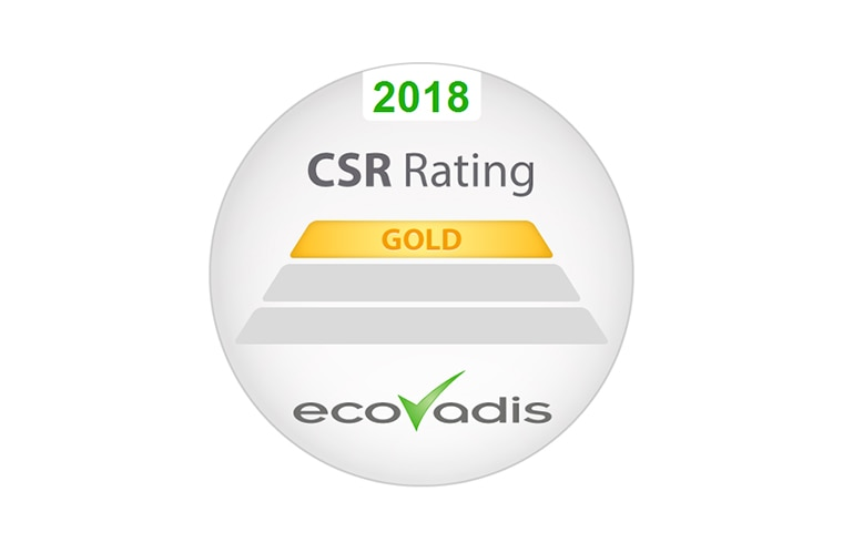 EcoVadis Gold Recognition