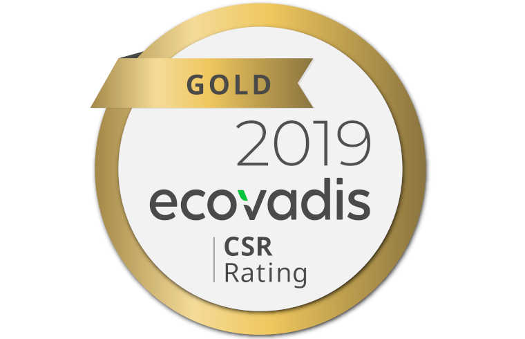 EcoVadis Gold Recognition 2019