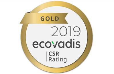 ecovadis gold medal 2019