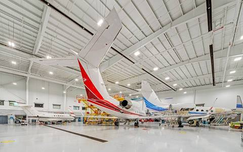 industrial lighting solution aviation hangar